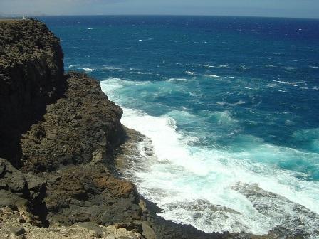 The coastline at Costa de Antigua